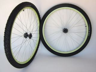 New Green Mountain Bike Wheels 29er 29 Disc with Tires FAN29SPT