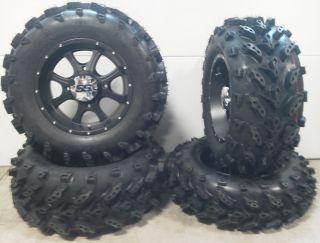ITP SS108 14 Wheels Black 27 Swamp Lite Tires Polaris Sportsman