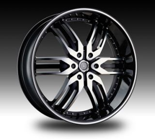 26 Velocity 26 inch Velocity VW125B 26x10 Black Machined Rims 26