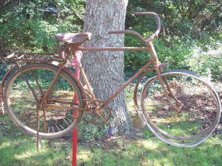 Schwinn Mead Cycle Co Ranger Bicycle Bike Wooden Rims Wheels