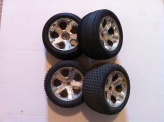 Rustler XL5 Tire Wheel Set Wheels OFF ROAD   Slash Stampede 12mm  27