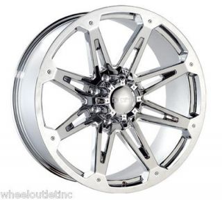 Chrome 8 Lug Wheels Rims 315 40 26 Fullway Tire Hummer H2 28 24