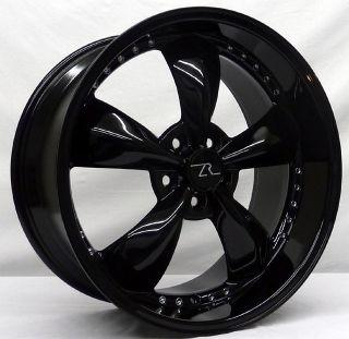 Black Mustang Wheels 20x8.5 & 20x10 20 inch Deep Dish 20 Bullitt Rims