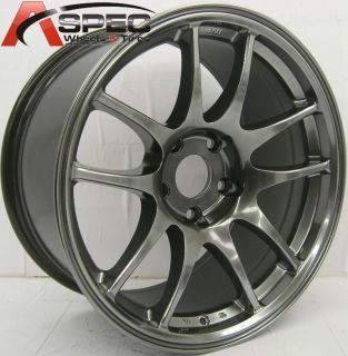 17x9 Rota Torque Wheels 5x114 3 Rims 30mm Hyper Black Fits Acura RSX
