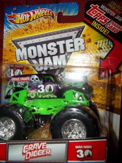 Hot Wheels Monster Jam Grave Digger Black 30th Anniversary Truck