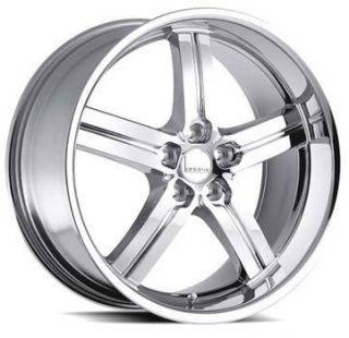 Lumarai Morro 18x8 5x120 ET31 Chrome Wheels Lexus 1 Rim S
