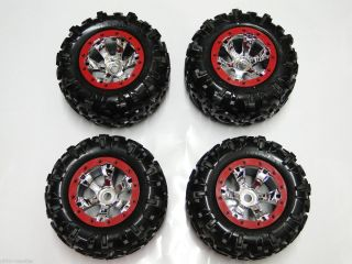 New Traxxas Summit 1 10 Wheels Tires Red Geode RM31R