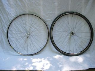7700 Mavic Open Pro 32 Black Road Bike Rims Wheel Set 700c Pair