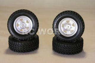 TAMIYA MITSUBISHI MONTERO RIMS WHEELS TIRES HIGHLIFT TRUCK WHEELS