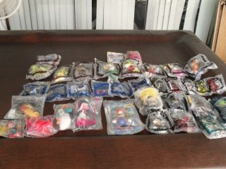 Lot 34 Vintage McDonalds Happy Meal Toys Hot Wheels Spiderwick Mario