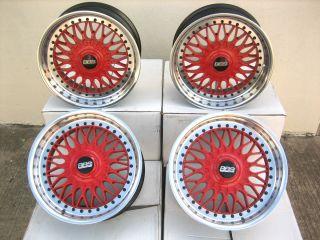 BMW 17 BBS Style 5 RED Wheels E39 E38 E12 Z3 E32 E34 E31 E28 M5 E30 M3