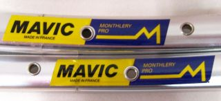 Vintage Pair Mavic Monthery Pro Tubulars Rims 700c 36 Holes