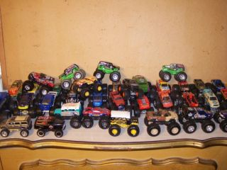 Lot of 36 Assorted Hot Wheels Monster Trucks Small Size