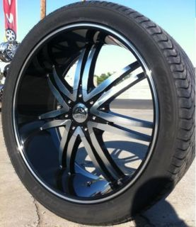 24 Bentchi B14 Black Wheels Rims and Tires Armada Nissan Titan QX 56