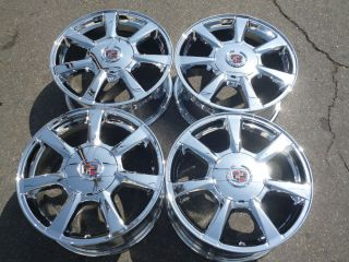 17 Cadillac cts Wheels Rims New Chrome Set with Caps 5x120 Factory