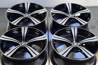 Matte Black BMW 3 Series Acura RL X5 325 Cadillac CTS 5 Lug Rims