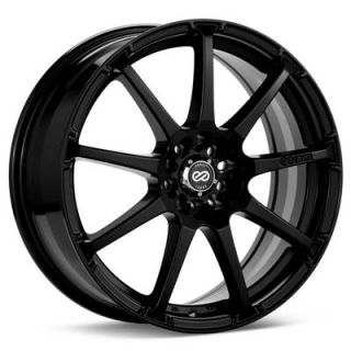 17 Enkei EDR9 Black Rims Wheels 17x7 38 4x100 Mini Cooper Civic Fit
