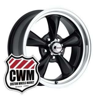 17x7 Black Wheels Rims 5x4 75 Lug Pattern for Chevy Corvette 1964
