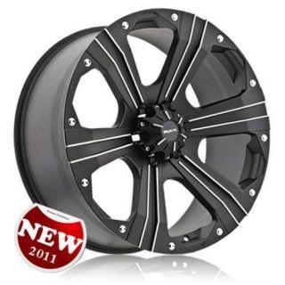 22 Black Wheel Tires 5x150 Toyota Tundra Sequoia 305 40 22
