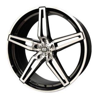 18 Enkei RAZR Wheels Rims Black Machined 18x8 5x114 3 40
