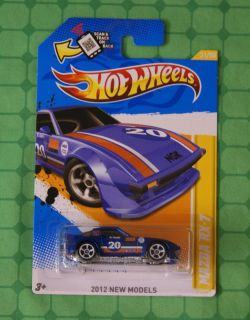 2012 Hot Wheels New Models 31 Mazda RX 7 Blue