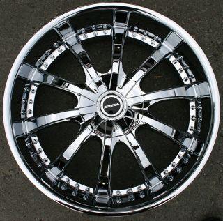 Strada Sole 22 Chrome Rims Wheels Audi Q7