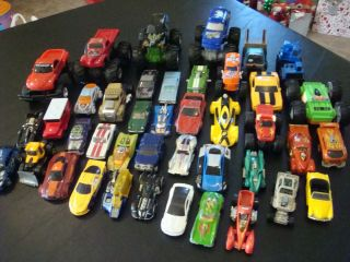 Lot of 41 Matchbox Hotwheels Cars Some Monster Cars