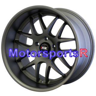 Flat Gun Metal Staggered Wheels Rims Stance 5x114 3 03 08 Nissan 350z