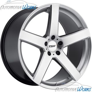 18x8 TSW Rivage 5x110 40mm Hyper Silver Rims Wheels inch 18
