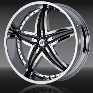 inch Staggered Gianna Blitz Chrome Wheel Rim 5x4 75 5x120 65 35