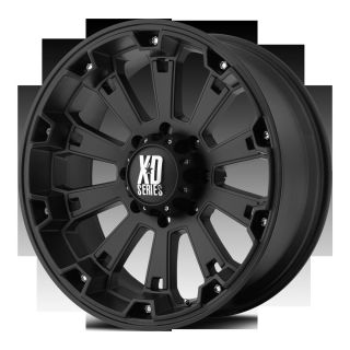 20 inch Black wheels rims XD Series 800 Misfit Chevy Gmc 1500 trucks 6