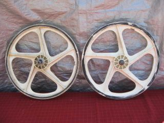Old School BMX OGK Mag Wheels Rims Wheel Set Peregrine