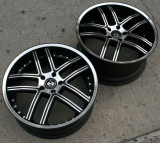 Koko Kuture Intake 20 Black Rims Wheels G35 G37 Staggered 20 x 8 5 10