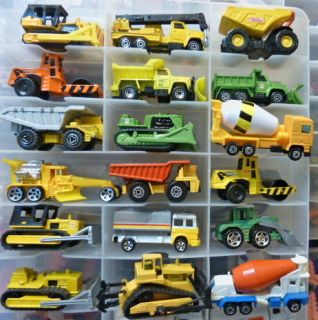 18 Assorted Matchbox Hot Wheels More Construction Diecast Car Lot Nice