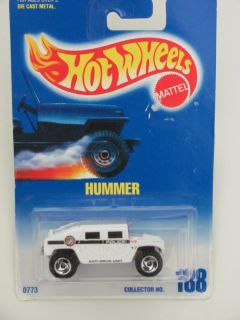 Hot Wheels 1991 Blue Card Hummer 188 White