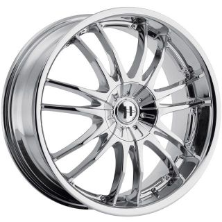17 inch Helo HE845 Chrome Wheel Rims 4x4 5 4x114 3 42