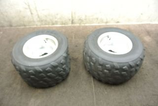 Yamaha Raptor YFM350 YFM 350 Rear Wheel Set Rims Tires Wheels