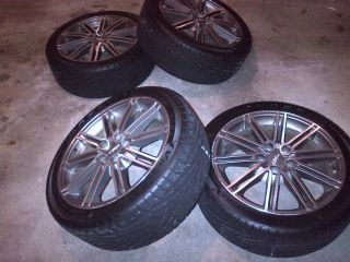 Toyota Camry 5x114 3 TRD Rims Wheels 18x8 Maxxis 225 45 18 Racing with