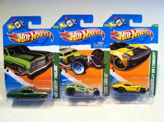 NEW 2012 HOT WHEELS TREASURE HUNT 65 CHEVY MALIBU SURF CRATE & FORD