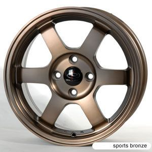 16 ROTA GRID SPORTS BRONZE RIMS WHEELS 16x7 40 4x100 CIVIC FIT INTEGRA