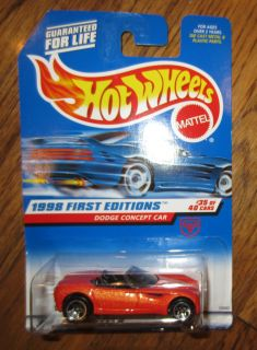 Hot Wheels 1998 First Editions Dodge Concept Car 35 40 672 New