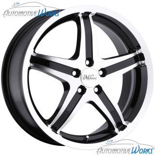 Whip 5 5x114 3 5x4 5 40mm Black Machined Wheels Rims inch 17