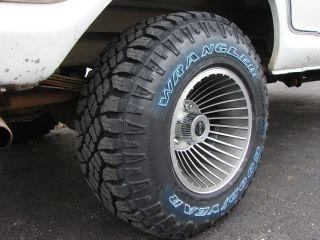 15x10 Western Wheels Cyclone 5x5 5 Rims Goodyears Ford Bronco F100