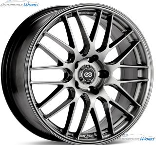 17x7 Enkei EKM 3 5x114.3 5x4.5 +45mm Hyper Silver Rims Wheels Inch 17