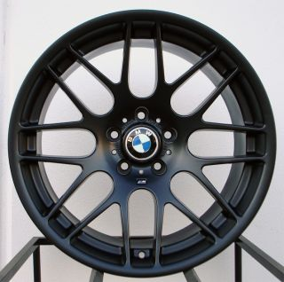 19 M3 CSL Wheels Rims Matte Black Fit BMW E46 M3 2000 20005