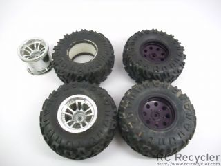 MOAB 2 2 Rock Crawler Tires Wheels w Traxxas Dyed 2 2 Wheels