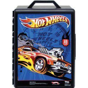 Hot Wheels Molded 48 Car Case Carrying Travel Storage Organizing New