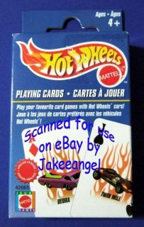 Hot Wheels Cars Playing Cards Mattel New 2002 Deck Seal