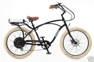 Cruiser Bicycle Bike Blackframe Black Rims Creme Balloon Tires