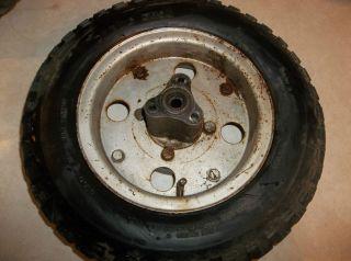 71 Honda Z50 Mini Trail Rear Wheel Rim Tire 50 K2 B019